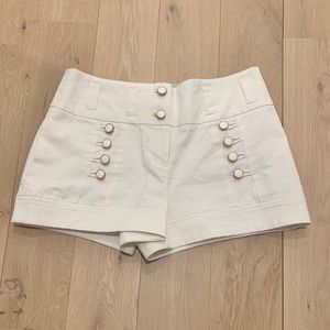 Leifsdottir Sailor Button Shorts White size 8